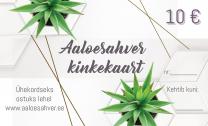 Kinkekaart - Aaloesahver.ee